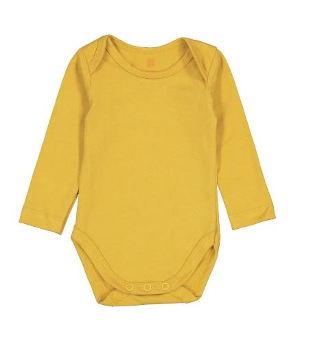 afbeelding van Body biologisch katoen stretch geel