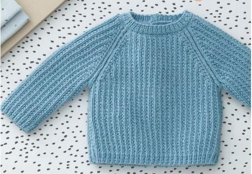 lichtblauw babytrui lupilu